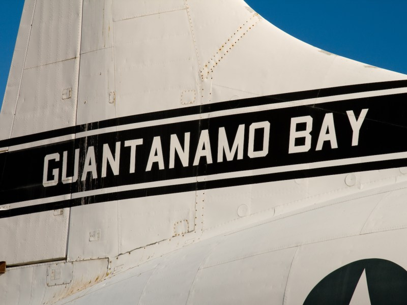US Air Force plane from Guantanamo Bay, Cuba. Photo: iStock