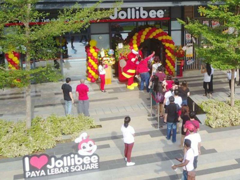 Jollibee in Paya Lebar Square, Singapore. Photo: Jollibee Singapore's Facebook page