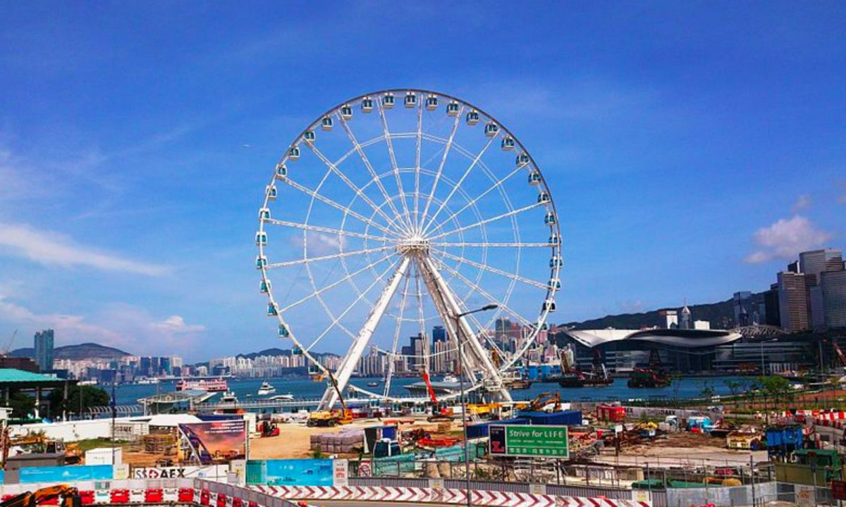 Hong Kong Observation Wheel in Central. Photo: Wikipedia