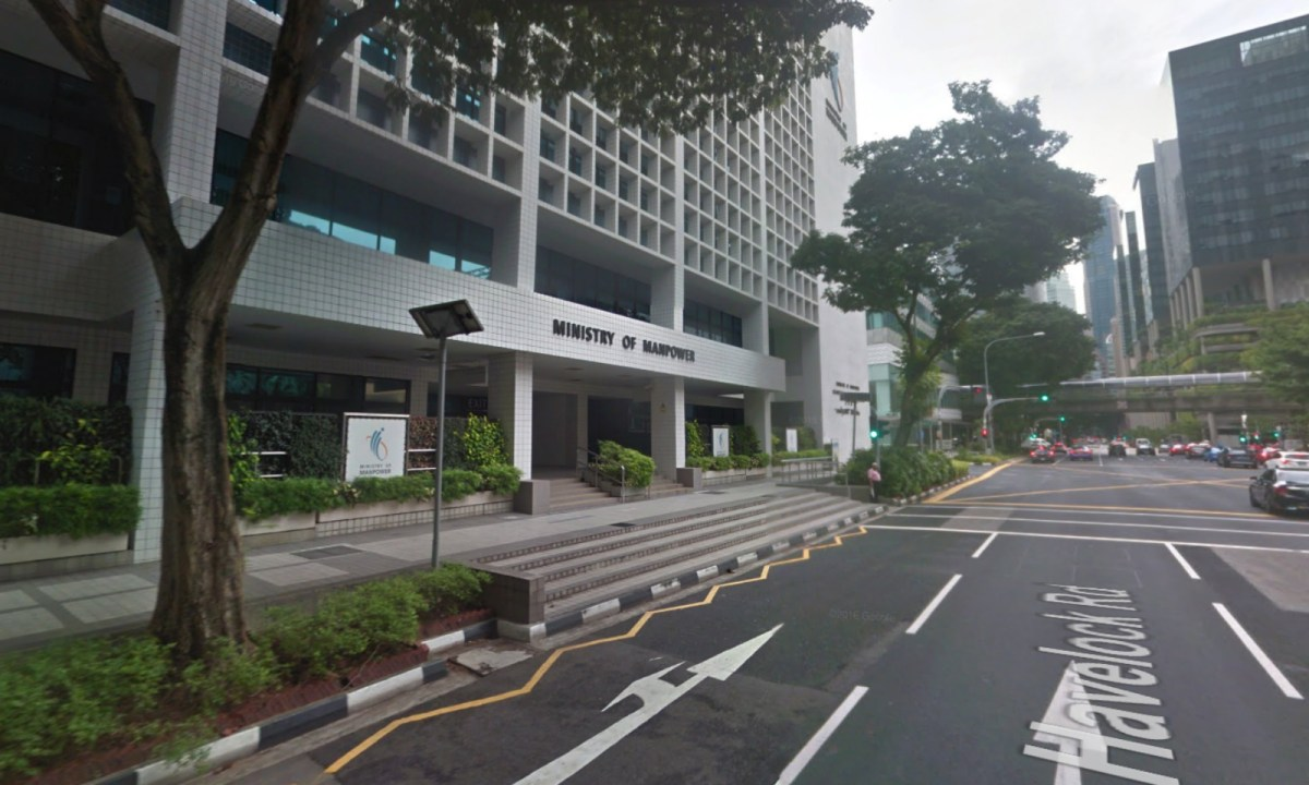 The Ministry of Manpower, 18 Havelock Road, Singapore. Photo: Google Maps