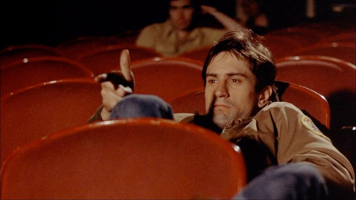 Robert De Niro as Travis Bickle in Taxi Driver.