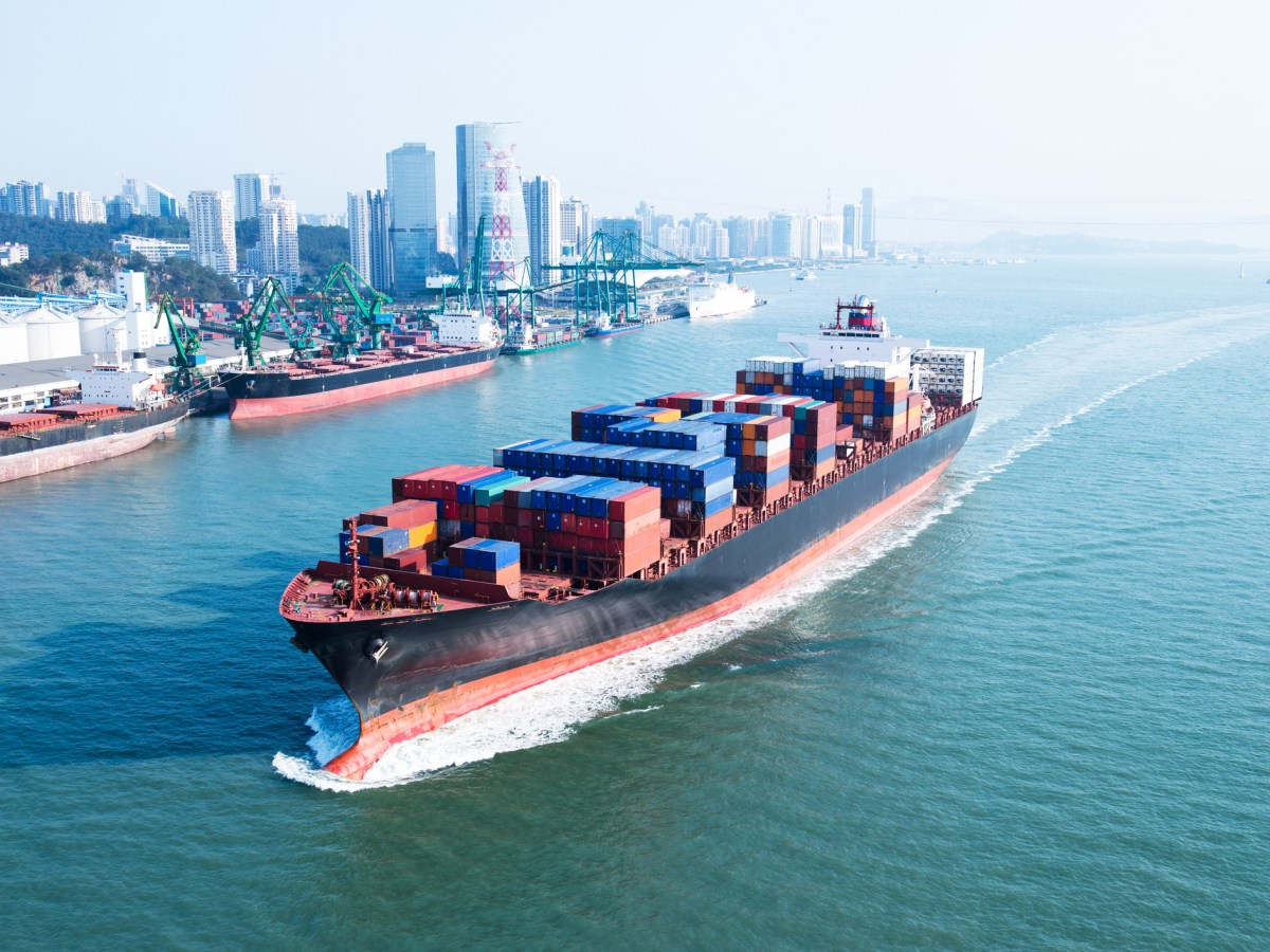 Large container ship arriving in port. Photo: iStock