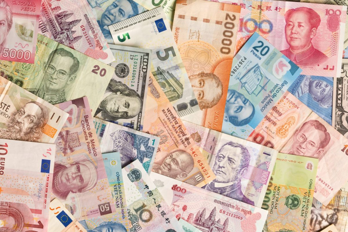 A collection of international currencies. Photo: iStock
