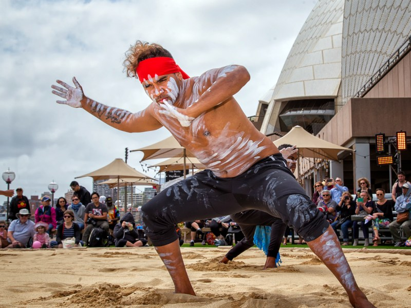 Australian Aboriginal dancers perform during the Homeground festival. Homeground is Australia's biggest celebration of indigenous culture. Photo: iStock