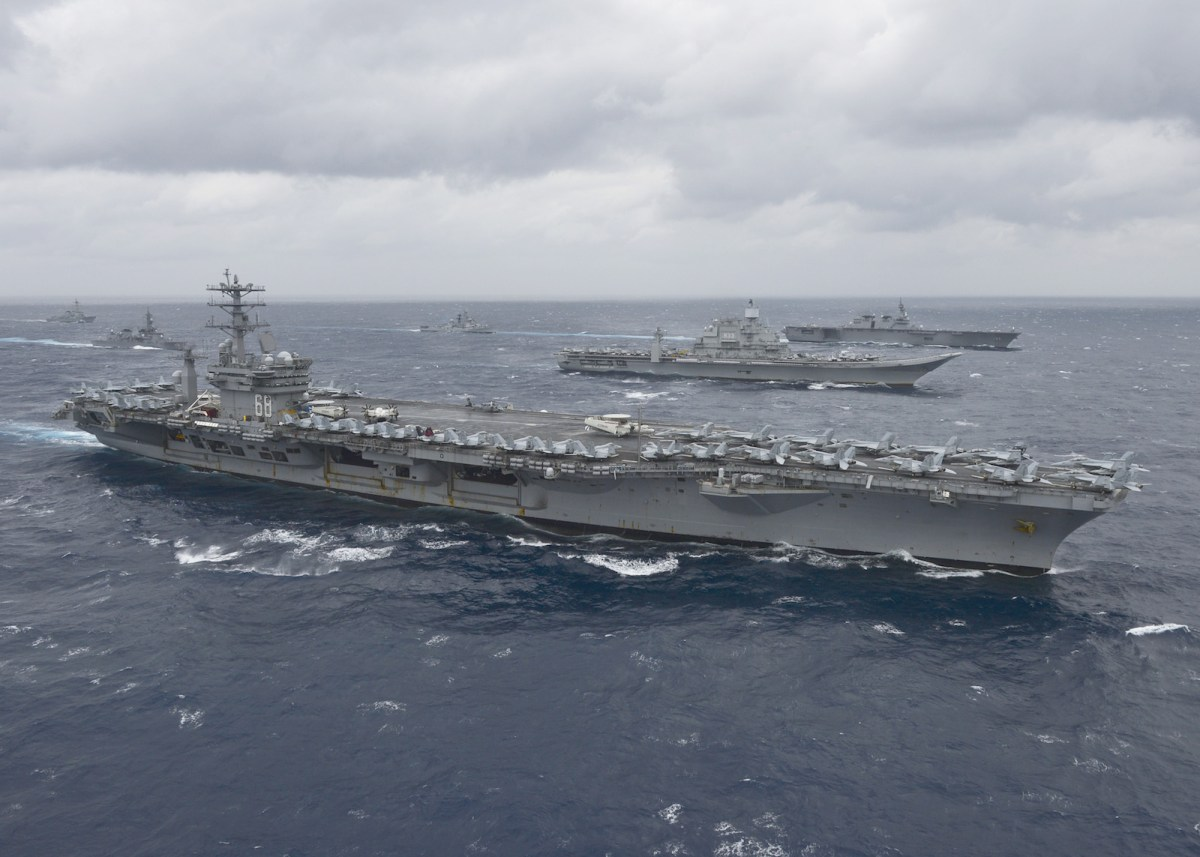 US aircraft carrier US Nimitz was part of the Malabar naval exercise in July which included vessels from the Indian and Japanese navies The annual exercise in the Indian Ocean is seen as an ongoing effort to maintain security cooperation among the major democracies in south and east Asia.Photo: AFP/US Navy/Cole Schroeder