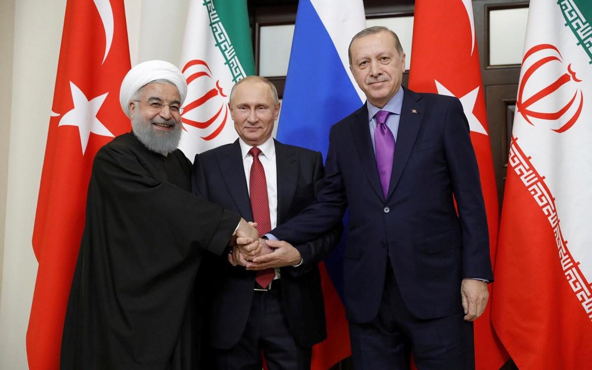Iran's President Hassan Rouhani, Russia's Vladimir Putin and Turkey's Recep Erdogan meet in Sochi, Russia. Photo: Sputnik / Mikhail Metzel via Reuters