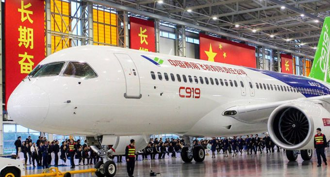The C919 series is China's domestically-produced airliner project. Photo: Xinhua