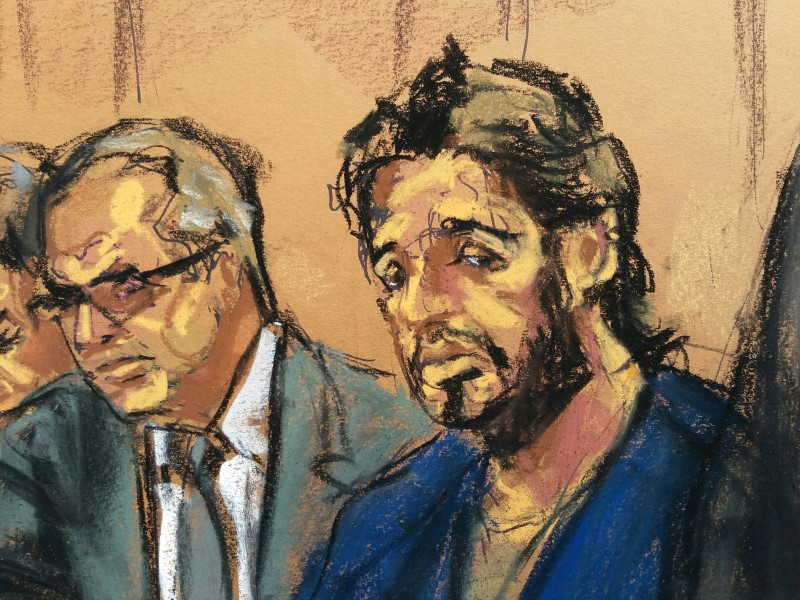 Turkish gold trader Reza Zarrab is shown in this courtroom sketch as he appears in Manhattan federal court last April. Photo: Reuters/Jane Rosenberg