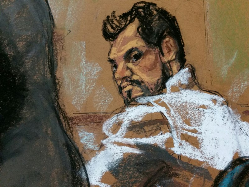Mehmet Hakan Atilla is depicted in a court room sketch. Photo: Reuters / Jane Rosenberg