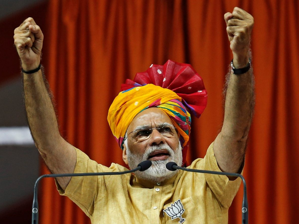 Modi has a peculiar habit of mispronouncing the name of the most famous Indian who ever lived. File photo: Reuters / Amit Dave