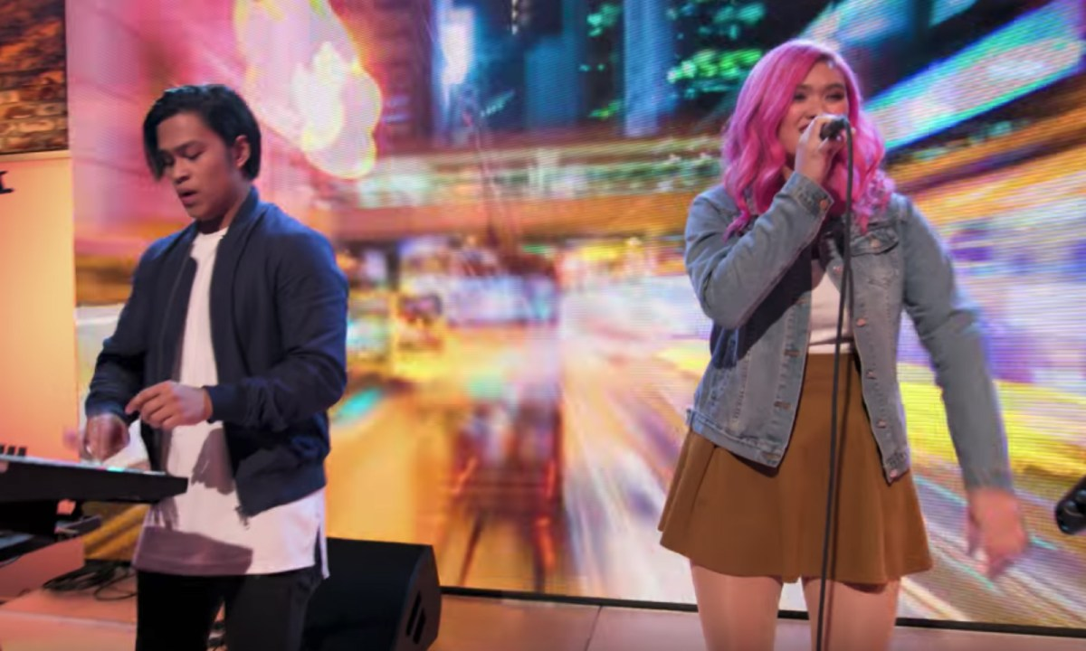 "Lesha x ELM performing DNCE's ""Kissing Strangers"" Photo: YouTube"