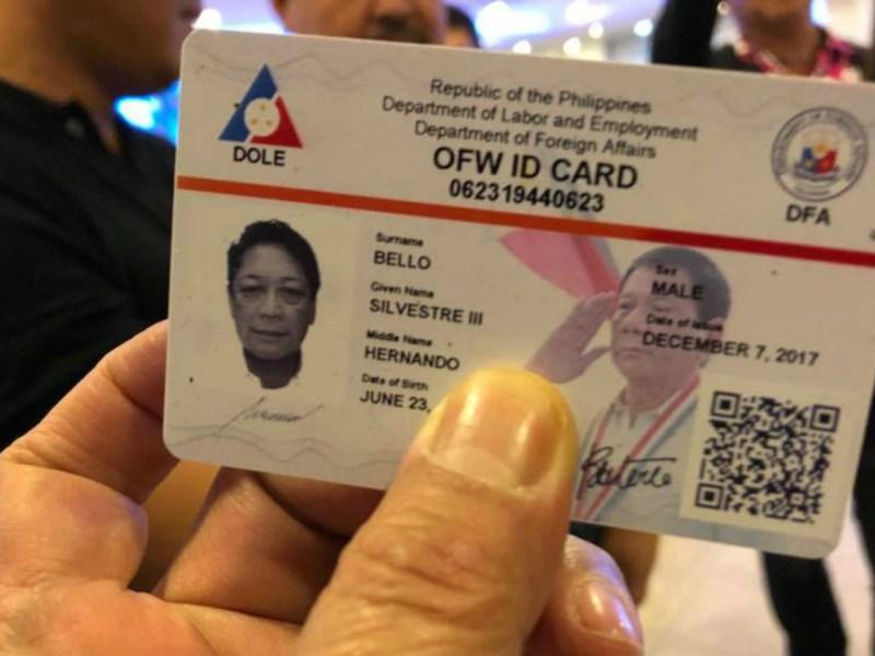 New OFW ID card  Photo: Mocha Uson Blog@Facebook
