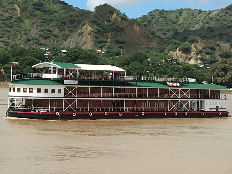 The Pandaw cruises down the Irrawaddy. It was part of hundreds of vessels built in Scotland that were sent to colonial Burma, then sunk when Japanese forces arrived during the war. Photo: Julian Ryall