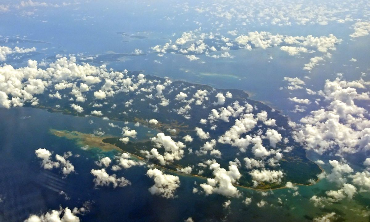 Aerial view of Polillo Island in the Philippines. Photo: Wikimedia Commons, P199