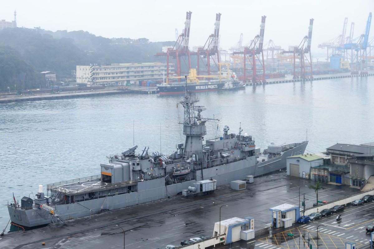 Taiwanese frigate Lan Yang alongside in Keelung Harbor. Washington is considering res-establishing warship port-of-call visit exchanges with Taiwan, a proposal that has angered Beijing.Photo: Wikimedia Commons/Uwe Aranas
