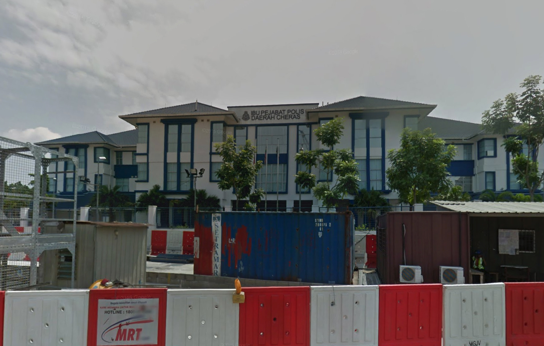 Police station in Jalan Cheras, Kuala Lumpur. Photo: Google Maps