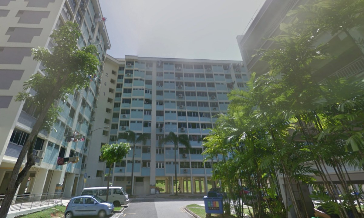HDB Block 241 on Bukit Panjang Ring Road, Singapore. Photo: Google Maps