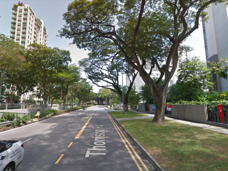 Thomson Road  in Singapore. Photo: Google Maps
