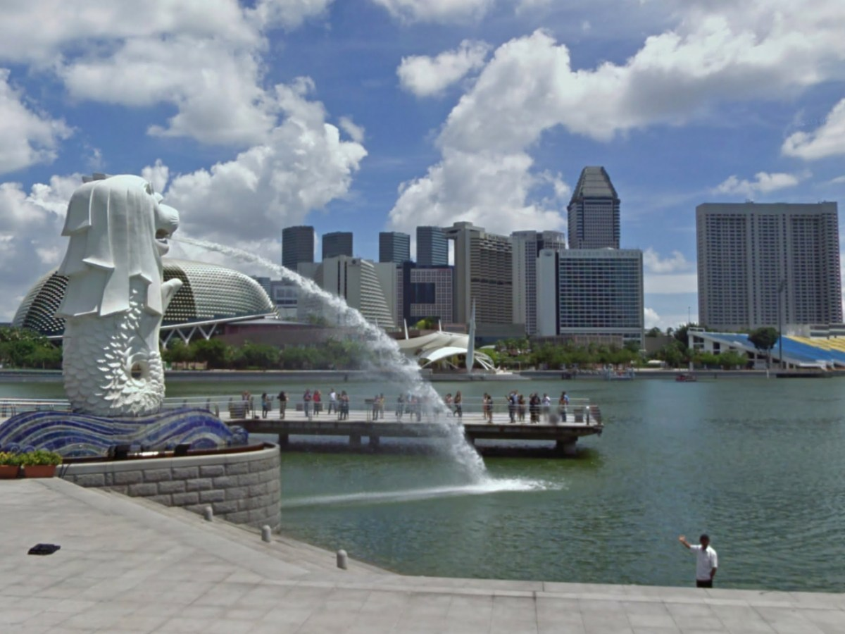 The Merlion in Singapore where the incident took place. Photo: Google Maps