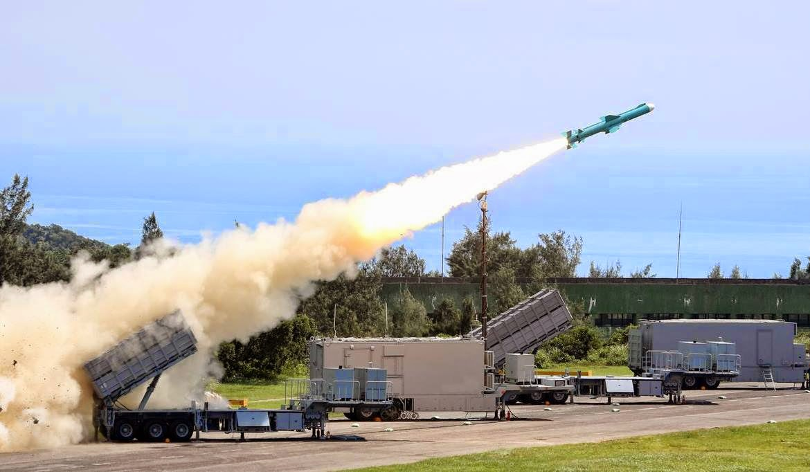 Taiwanese Hsiung Feng II Anti-Ship Cruise Missile Coastal Defence System in action. Photo: Taiwan Defense Ministry