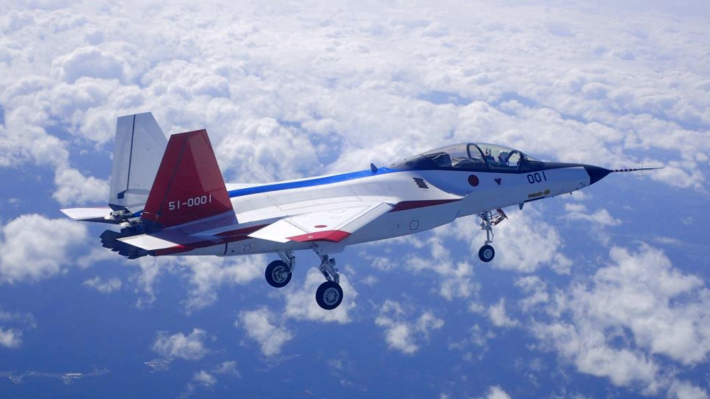 Japan's X-2 fighter jet makes its maiden flight. Photo: Wikipedia