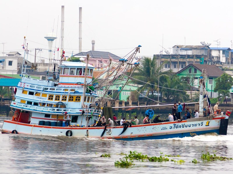 A fishing boat returns to Samut Sakhon port near Bangkok in this file shot from 2011. The Prayut government is looking to buy up about 1,900 vessels that have been idle since tougher regulations were imposed to eliminate illegal and unregulated fishing. Photo: iStock