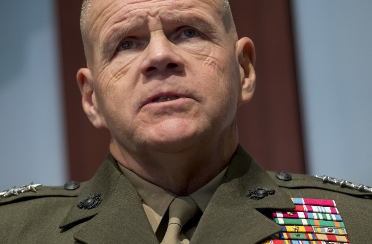 US Marine Corps Commandant General Robert Neller speaks during a discussion at the Center for Strategic and International Studies (CSIS) in Washington, DC, January 25, 2018. Photo: AFP/Saul Loeb