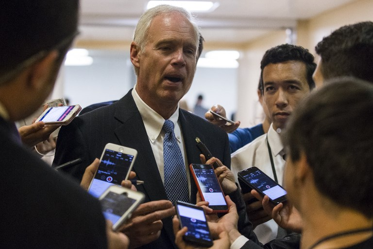Republican Senator Ron Johnson raised questions this week regarding text messages between FBI agents referencing a 'secret society.' Photo: Anadolu Agency