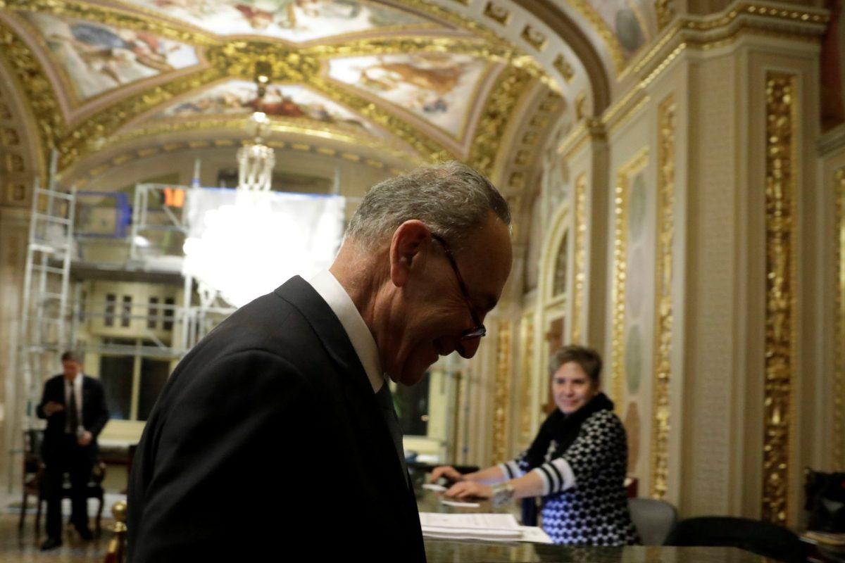 Senate Minority Leader Chuck Schumer (D-NY). Photo: Reuters/Yuri Gripas