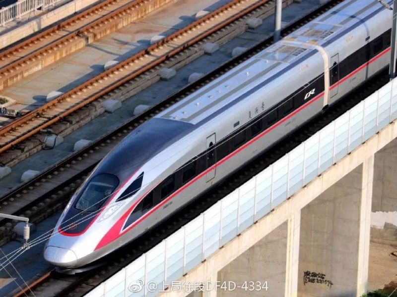 A Fuxing bullet train running on the Beijing-Shanghai route. Photo: China Rail Corp