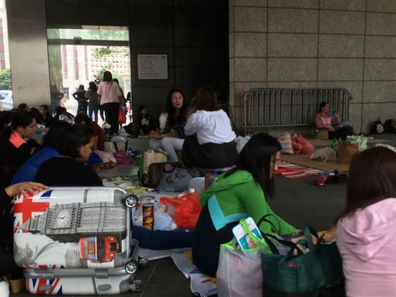 Domestic workers in Central, Hong Kong Island. Photo: Asia Times