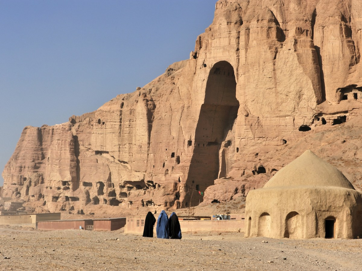 Women walk near the site of the Taliban's destruction of the Bamyan Buddhas. Photo: iStock