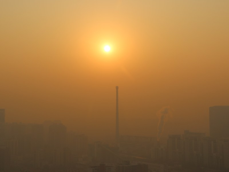 Heavy smog in the Chaoyang district of Beijing in November last year. Photo: AFP