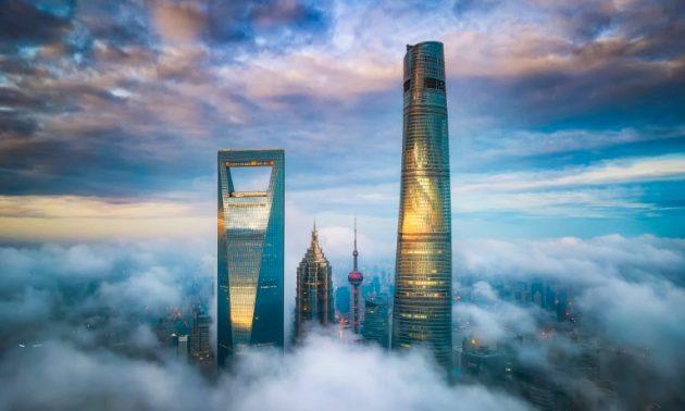 上海浦东陆家嘴金融贸易区。相片:AFP