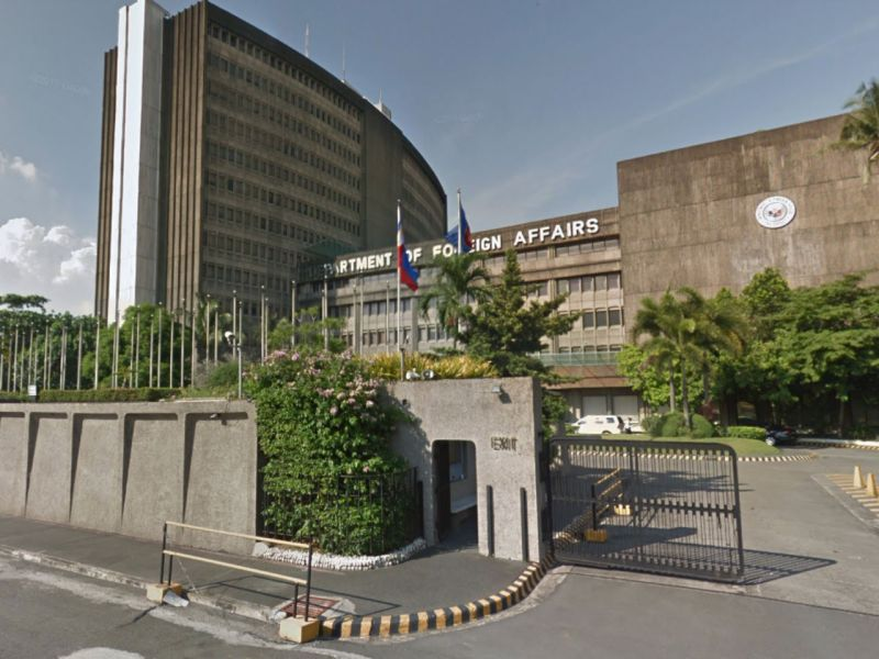 The Department of Foreign Affairs in Manila. Photo: Google Maps
