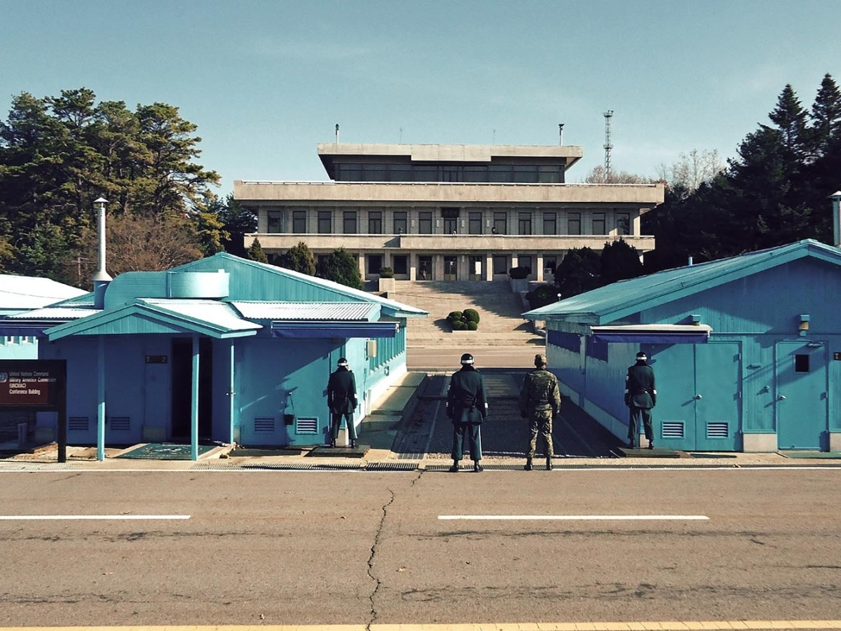 South Korean soldiers stand guard at the Korean Demilitarized Zone (DMZ). Photo: iStock