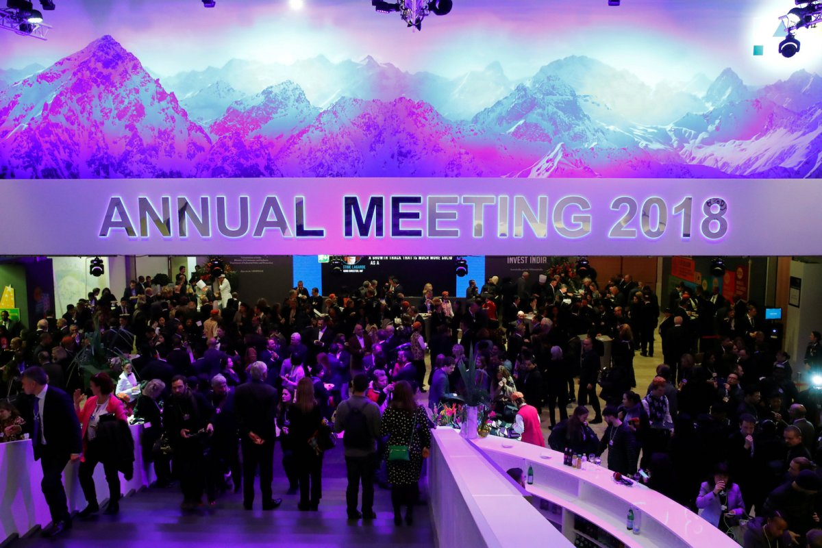 The curtain has gone up on the annual World Economic Forum in the Swiss resort of Davos. Photo: Reuters / Denis Balibouse