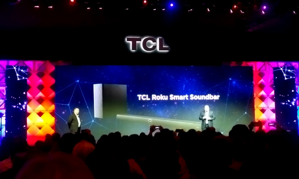 TCL announced the first soundbar with Roku's voice assistant on Monday at CES 2018 in Las Vegas. Photo: Asia Times
