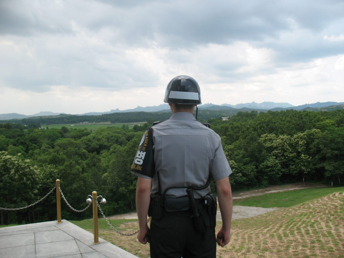 A South Korean soldier stationed at the JSA gazes into North Korea. Photo: Andrew Salmon