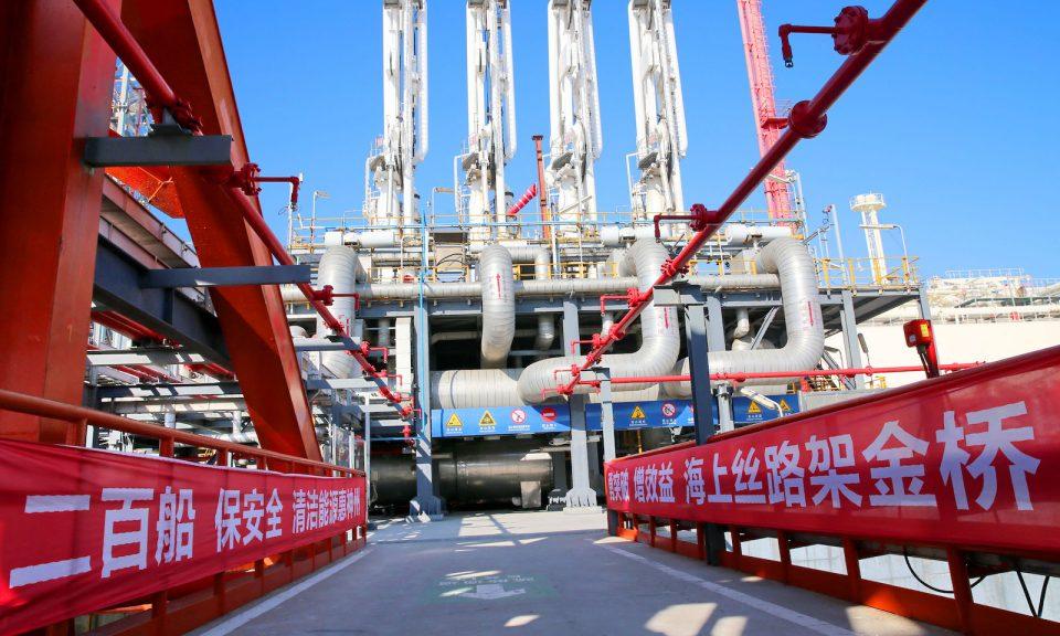 位于中国江苏省南通市洋口港的液化天然气站。相片:法新社