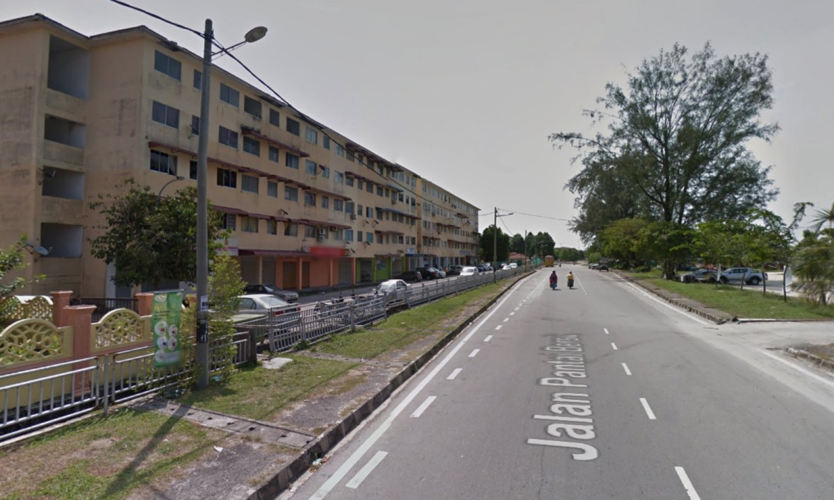 The neighborhood in Penang, Malaysia where the drugs raid took place. Photo: Google Maps