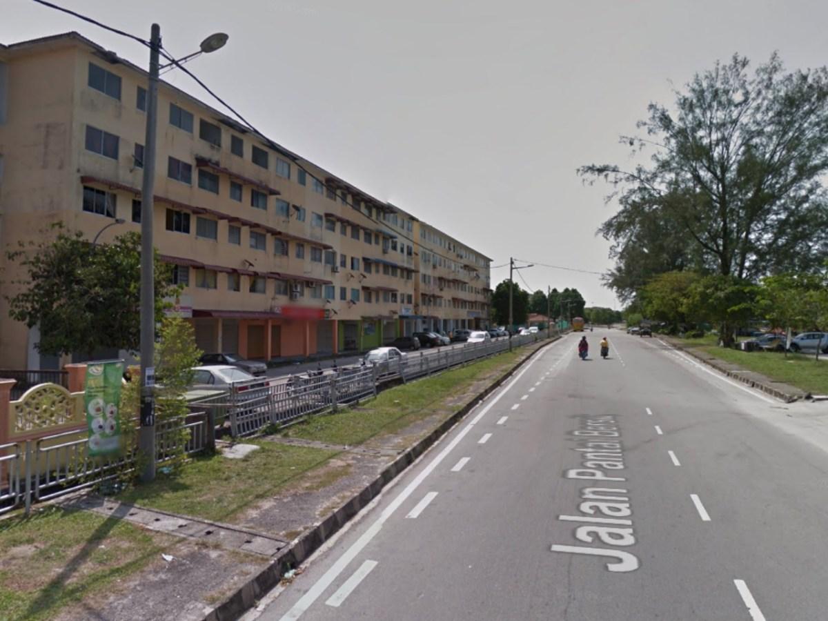 The neighborhood in Penang, Malaysia where the drugs raid took place. Photo: Google Maps