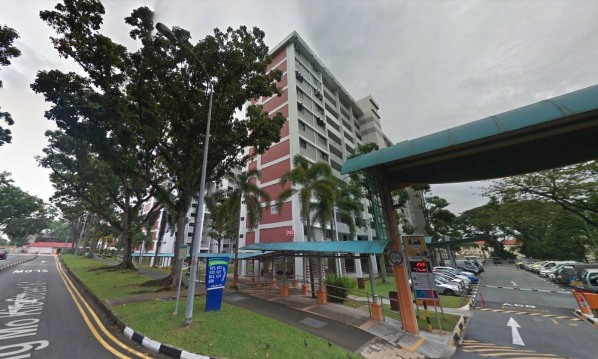 HDB Block 623 on Ang Mo Kio Avenue 9, Singapore. Photo: Google Maps