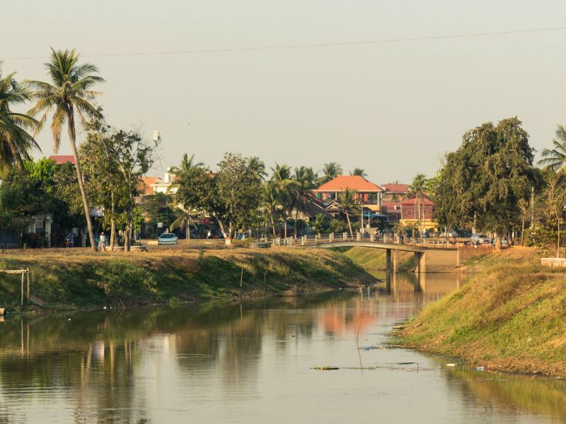 Siem Reap River in Cambodia. Photo: Wikimedia Commons, Dmitry A Mottl