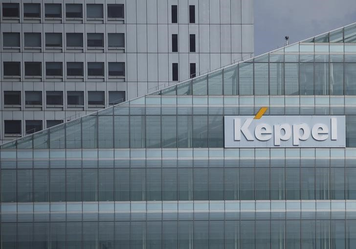 A Keppel Corporation logo in the central business district of Singapore February 22, 2016. Photo: Reuters/Edgar Su
