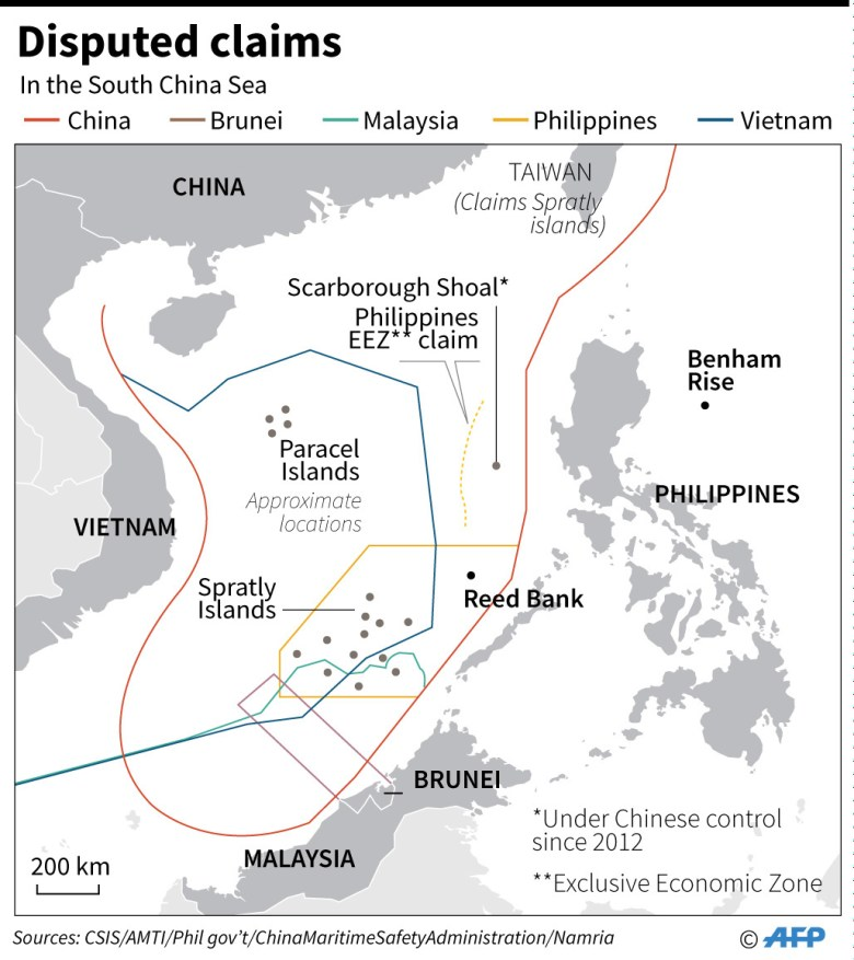 South China Sea-Map-Benham Rise-Map-2017