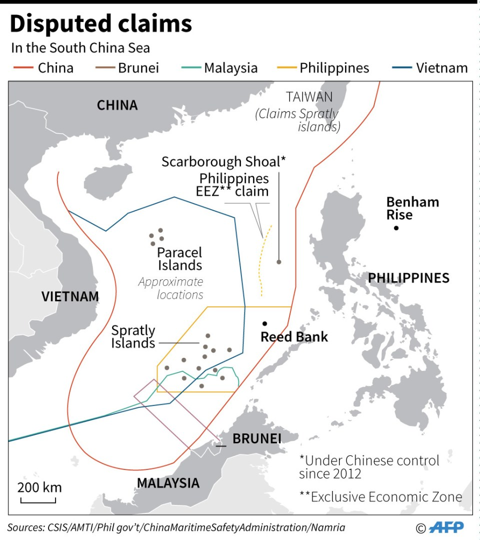 South China Sea-Map-Benham Rise-Map-2017