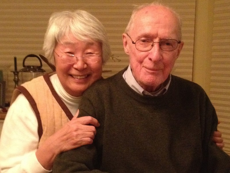 The late Stephen Bradner, with his wife Shin-ja. Photo: Courtesy Andrew Bradner