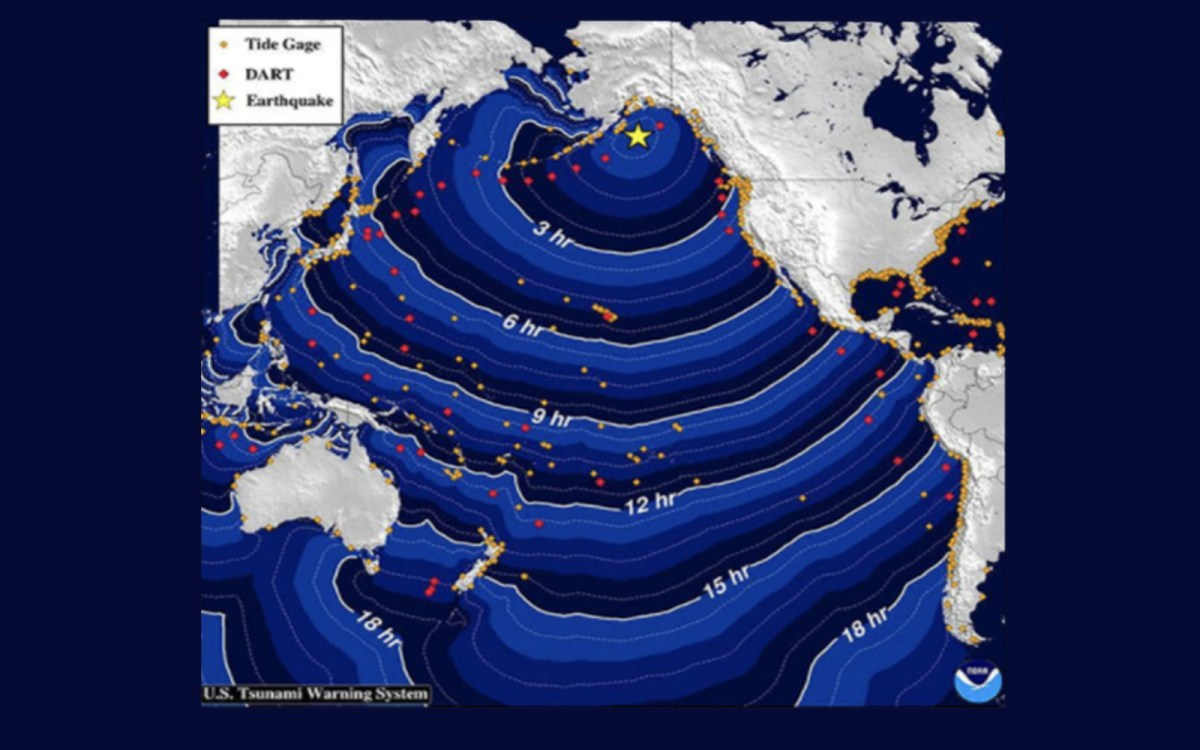Tsunami travel times. Source: US National Oceanic and Atmospheric Administration