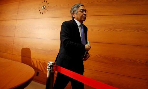 2017年4月27日,日本央行行长黑田东彦于东京总部出现。相片:Reuters / Kim Kyung-Hoon
